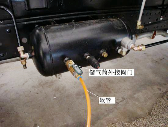 吸尘车出气筒用于清理滤筒